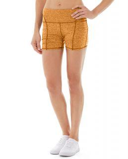 Gwen Drawstring Bike Short-32-Orange